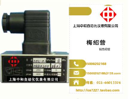 压力控制器D502/7D压力开关 上海中和自动化仪表