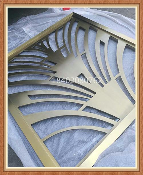 钛金客厅隔断屏风 金属装饰家居屏风 不锈钢屏风厂家直销