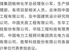 """陕煤集团榆林化学乙二醇工程及热解启动工程""""总体设计面协调会召开"""