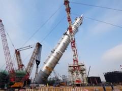 广东石化炼化一体化项目成功就位 刷新亚洲最重塔器吊装纪录